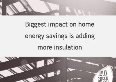 Biggest impact on home energy savings is adding insulation