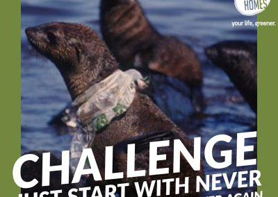 Challenge, just start by never