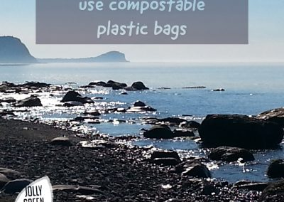 For the love of the planet use compostable plastic bags